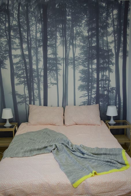 bedroom with its own forest