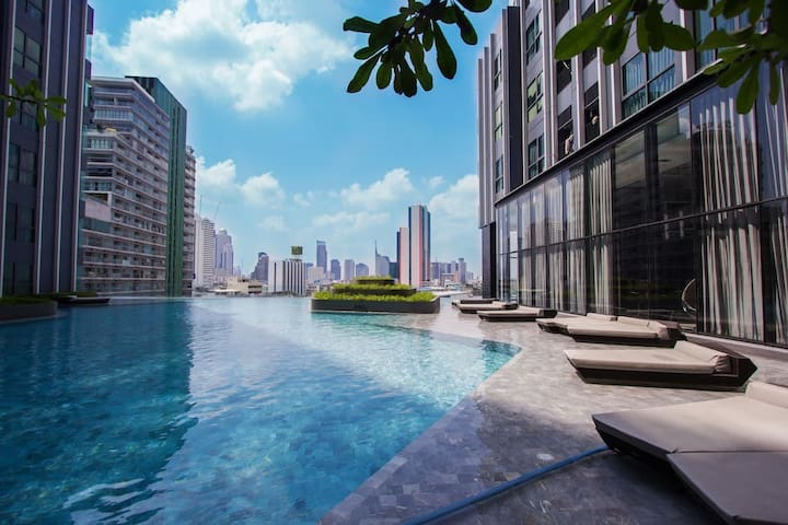 PANORAMIC & RIVER VIEW/ MRT SAMYAN/ CHINA TOWN 07 - Bangkok - Apartemen