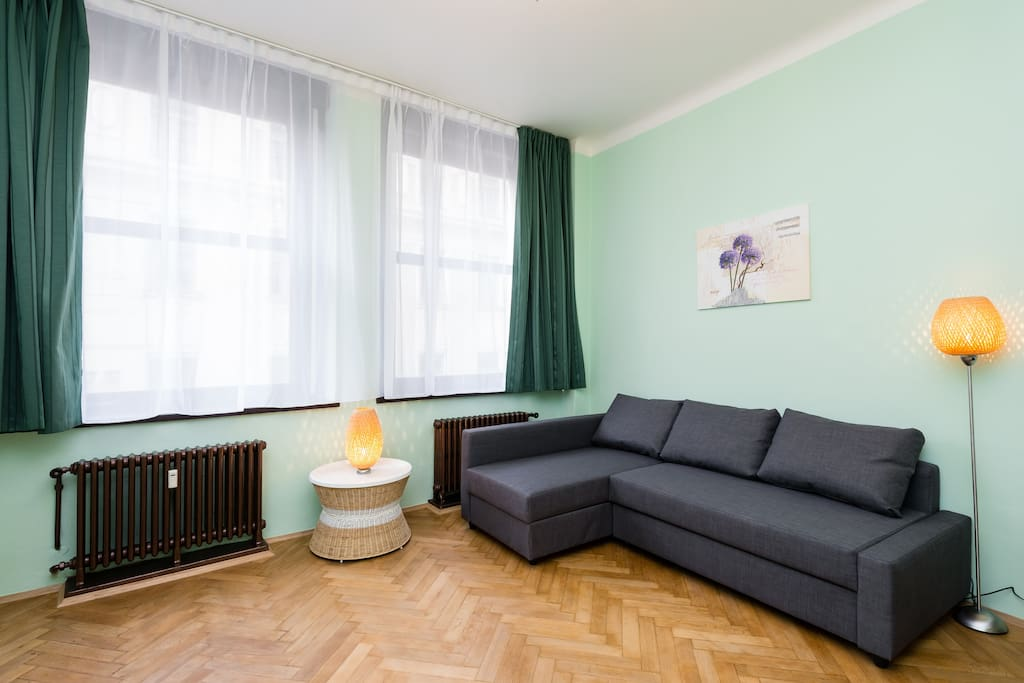 1 Bedroom: with 2 king-size bed for two person. and foldout sofa for two person.