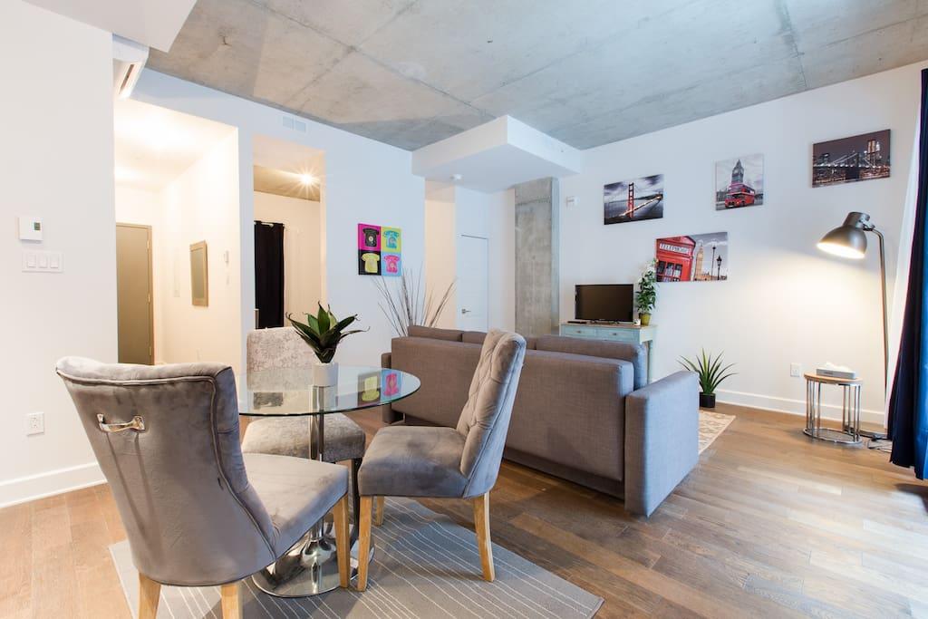 Condo tr s spacieux et charmant avec balcon - Appartement a louer vieux port montreal ...