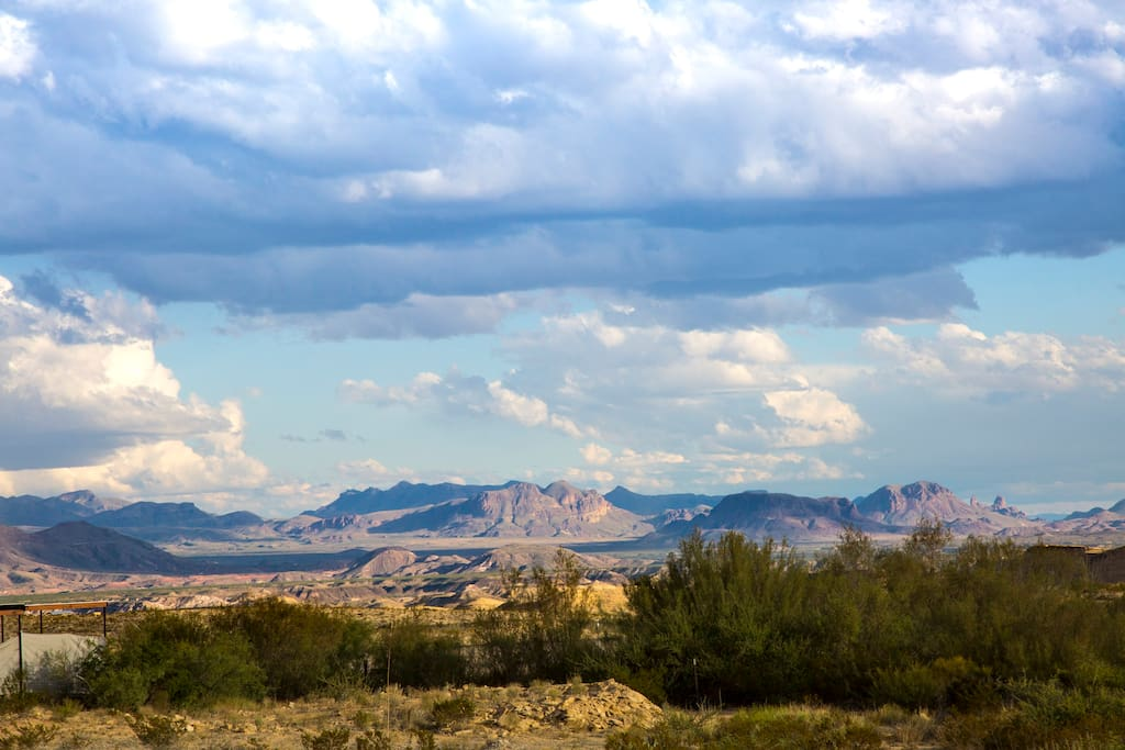 The Chisos Mountains. a view from your patio