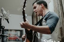 Photo of a concert series that was filmed in the condo! The wall makes the perfect backdrop for photos of your trip!