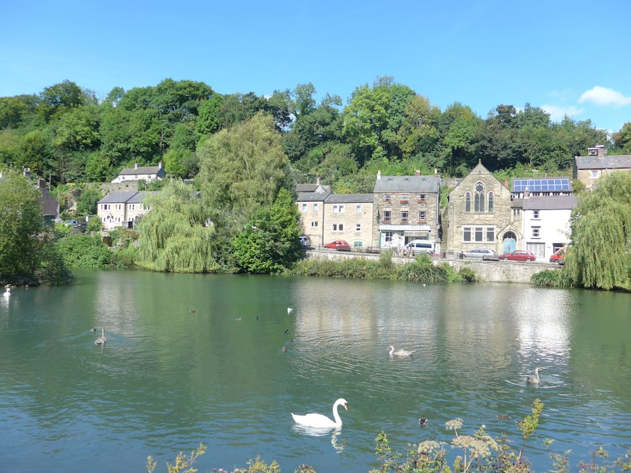 Village of Cromford with famous bookshop