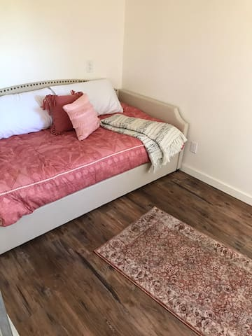 Back bedroom, twin bed with trundle bed underneath