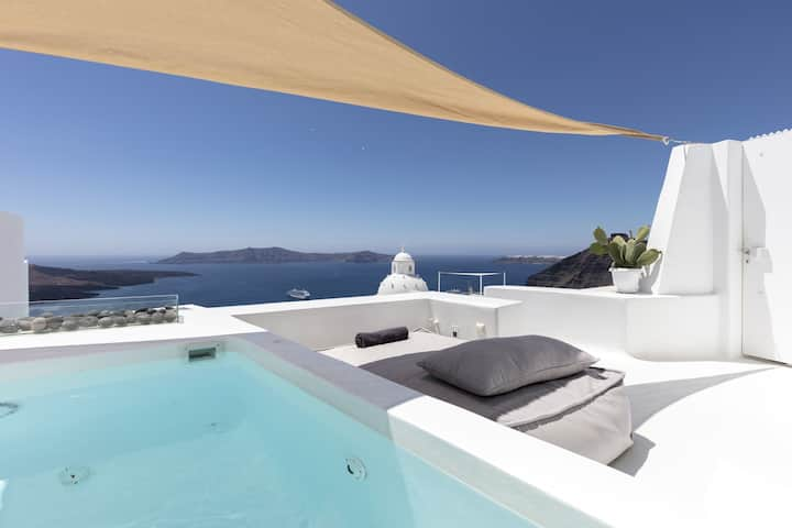 Villa, heated private pool, caldera view, hot tub