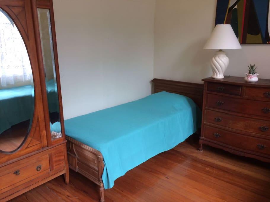 Espaço amplo com armários em madeira de lei