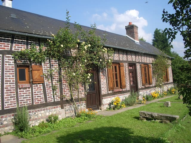 Les Aubépines, traditional Normandy colombage - Saint-Hellier - Casa