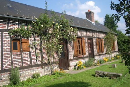 Les Aubépines, traditional Normandy colombage - Saint-Hellier - บ้าน