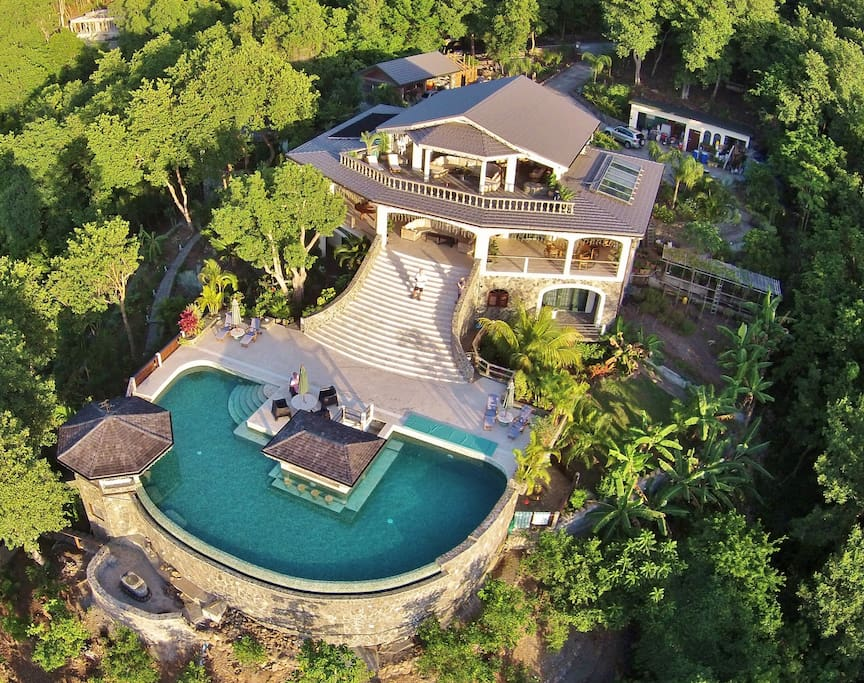 Tropical Hideaway is surrounded by lush natural forest and has the most amazing views