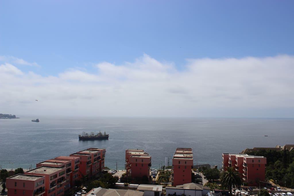 Vista panorámica a la Bahía de Valparaíso - Viña del Mar