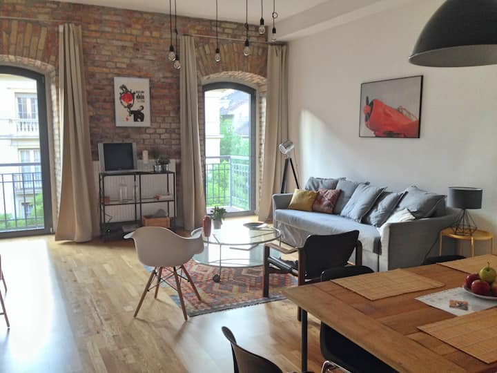 Stylish Loft  Danubeview, Central Location