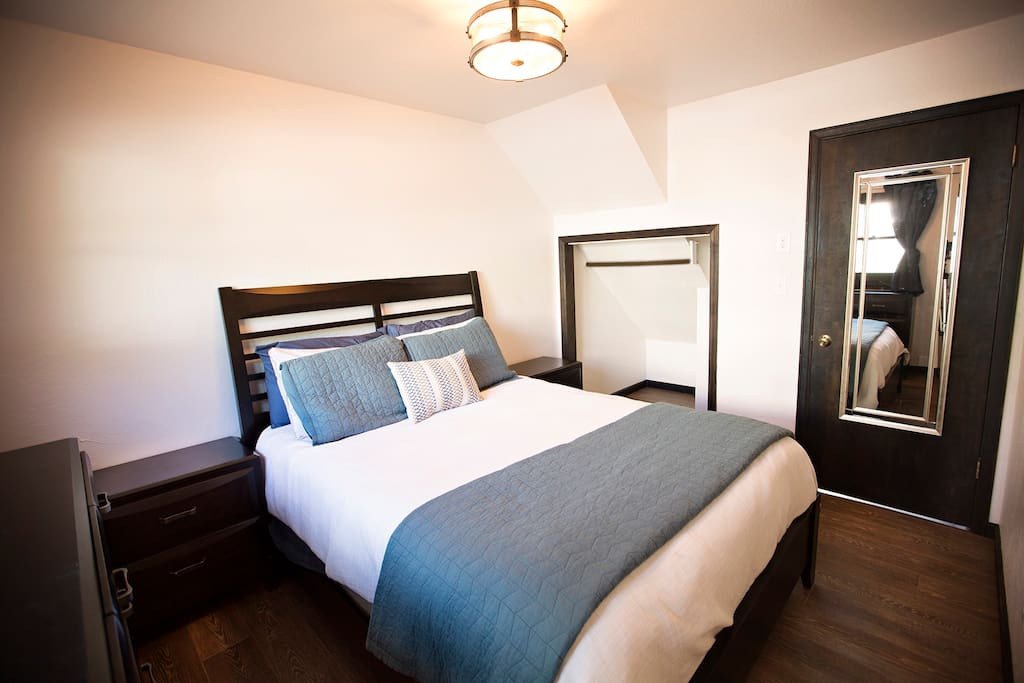 Your private bedroom with comfortable queen sized bed