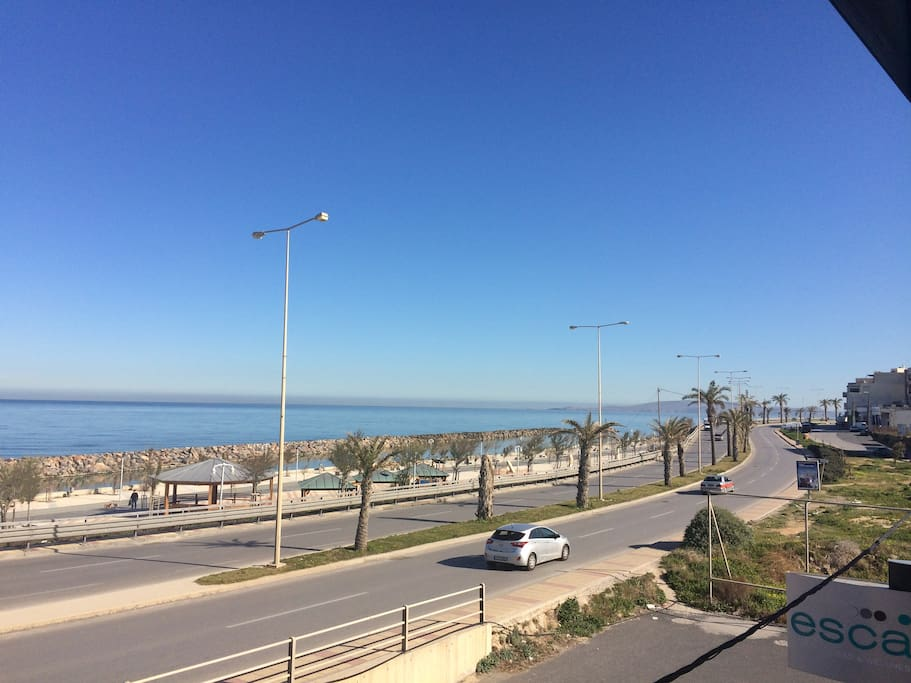 This photo is not the actual view from the apartment. It's the sea side located 5 minute walk from the apartment