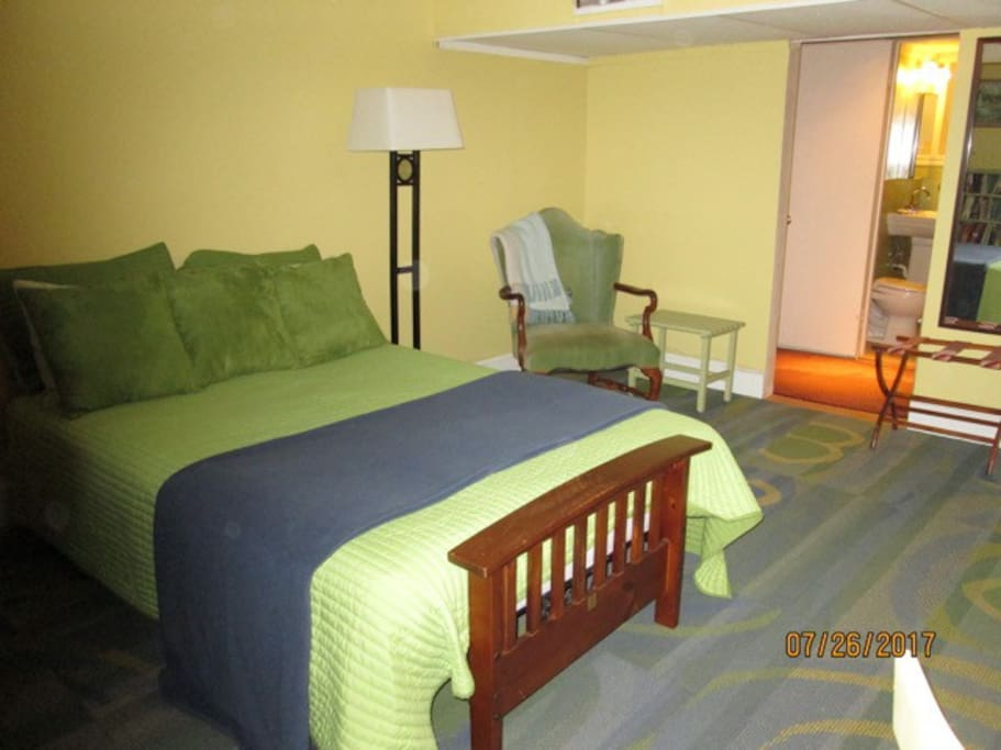 Double Bed, Easy Chair, and Bath nearby