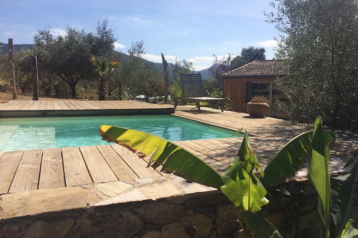 Studio spacieux/piscine en pleine nature
