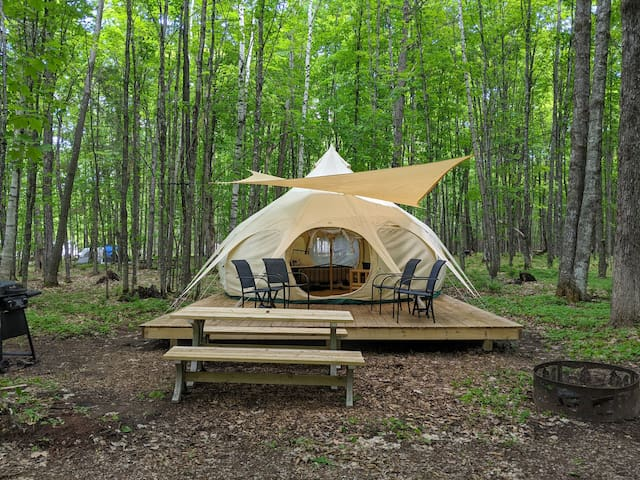 POV Resort Campgrounds - Social Distancing at its Best, Luxury Tent #10 (Yurt-Style)