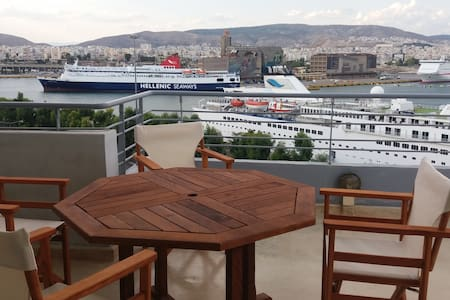 Luxury penthouse with cruise port view, and WIFI - Pireas