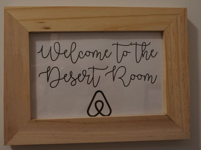 "Look for the room marked ""Welcome to the Desert Room."""