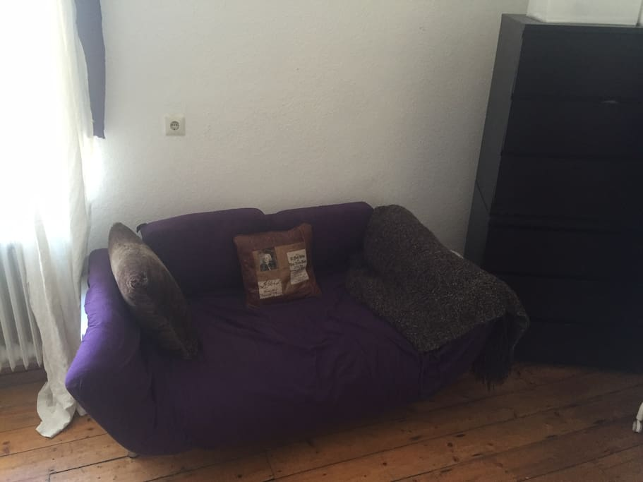 Couch (Futon, converts into single bed)