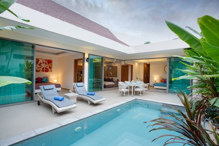 New 2-BR Pool Villa, 200m Rawai Beach⌘Seafood Mkt