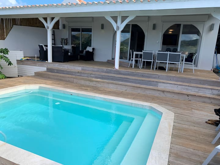 Villa with 2 bedrooms in Saint Martin, with wonderful sea view, private pool, enclosed garden