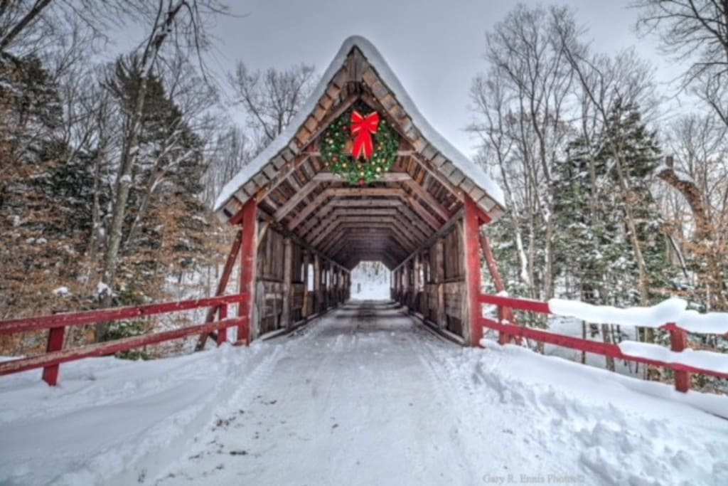 Joshua's Crossing Covered Bridge on the grounds