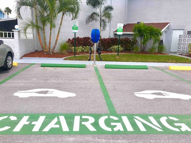 Our community even has a charging station for those of you driving electric cars.