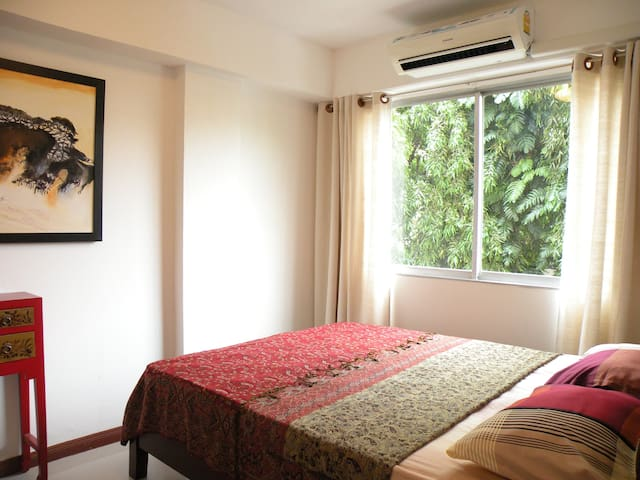 Both bedroom and living room has brand new air conditioning, which is so necessary in steamy Bangkok