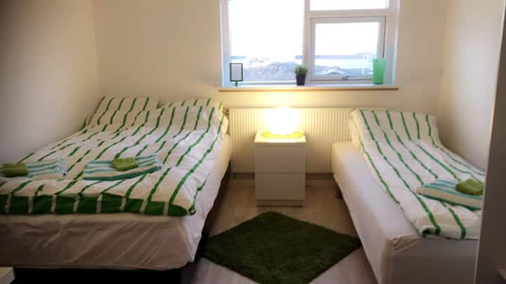 Aurora-view room 5 min from KEF airport R3