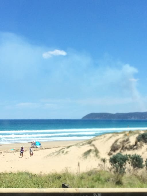 Moggs Beach is about a 5 minute walk