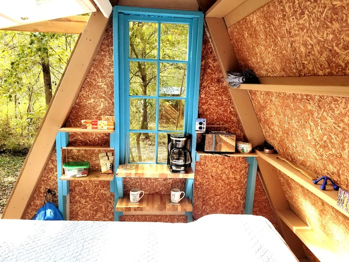 Experience Glamping in a Tiny A-Frame mins to town