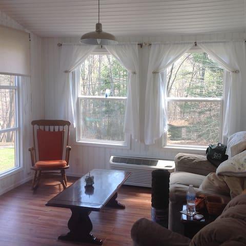Sunroom with AC and heat.