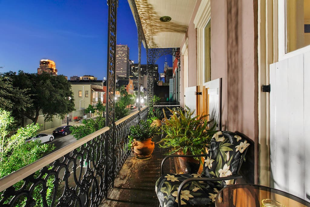 Balcony view of New Orleans
