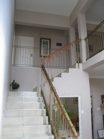 Staircase up to guest rooms