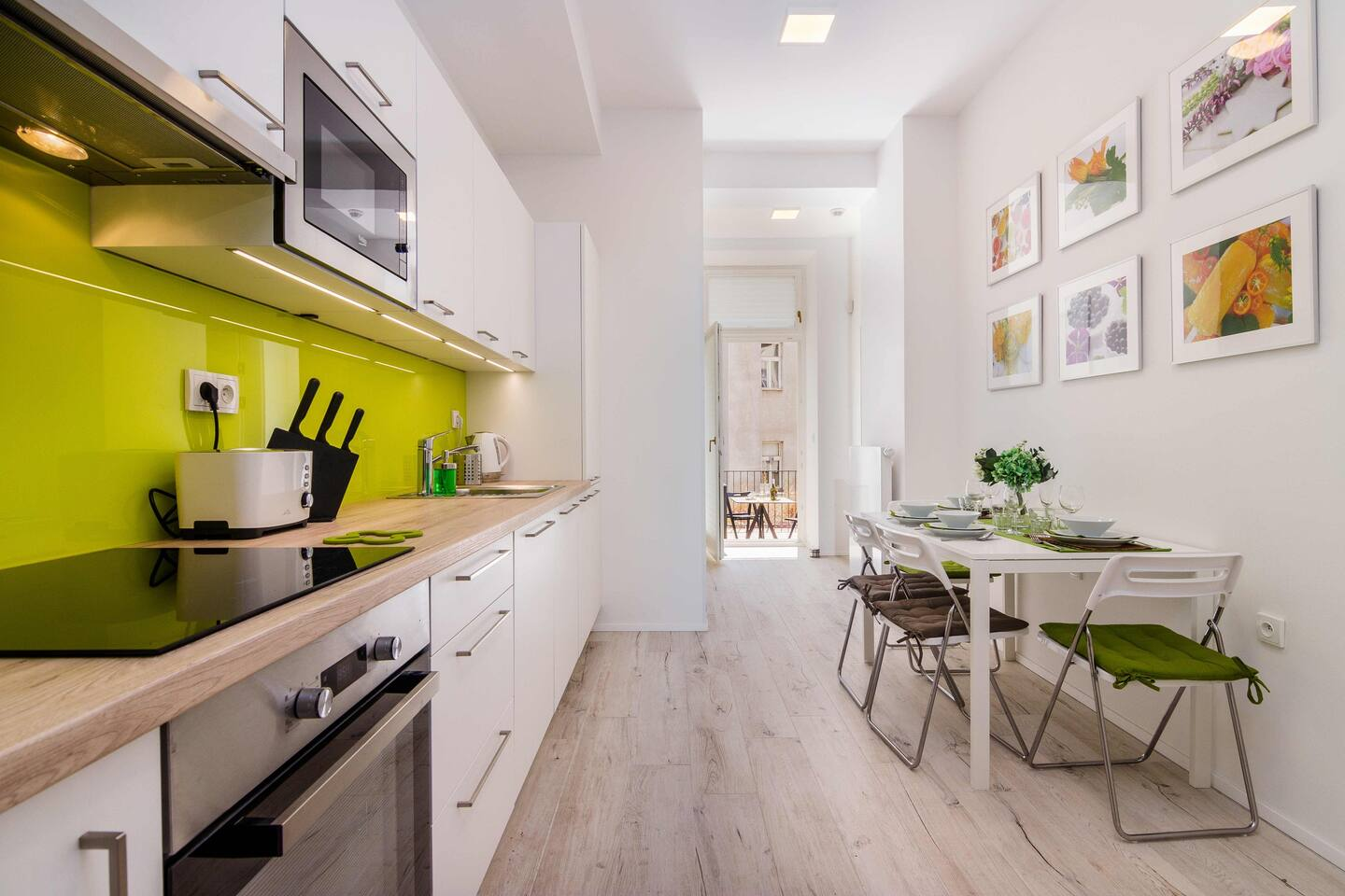 Our kitchen is perfectly equipped with everything you might need in attemp to prepare some tasty food.