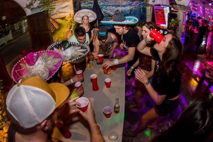 Party w/ a Mexican Catrina @FiestaPartyHostel