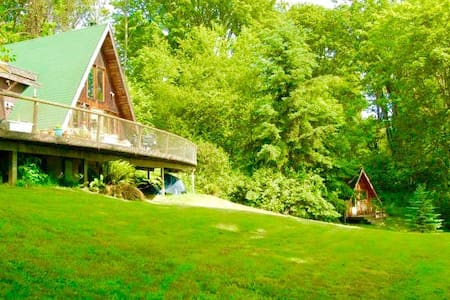 A Frame with views and lovely kitchen - Vashon - Chatka