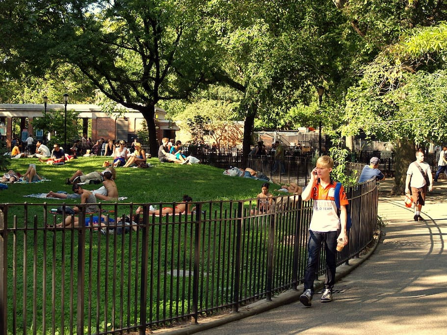 Two blocks from the East Village's Tomkins Square Park