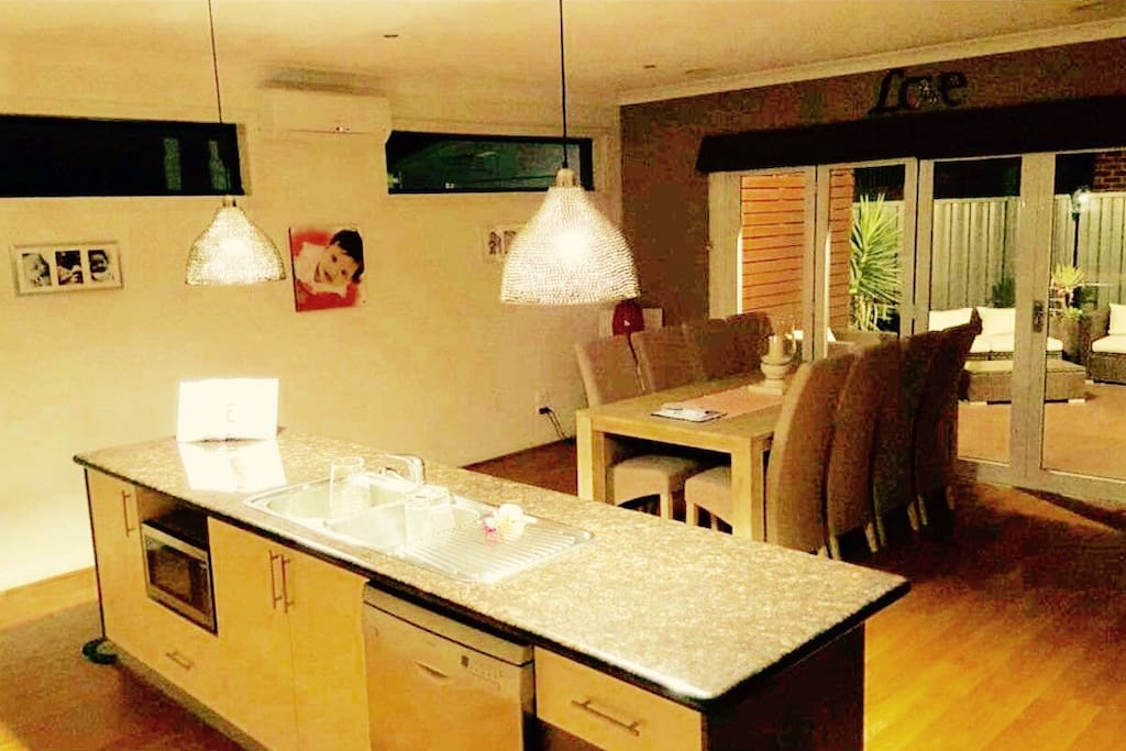 Kitchen is well equipped and has indoor/outdoor entertaining option