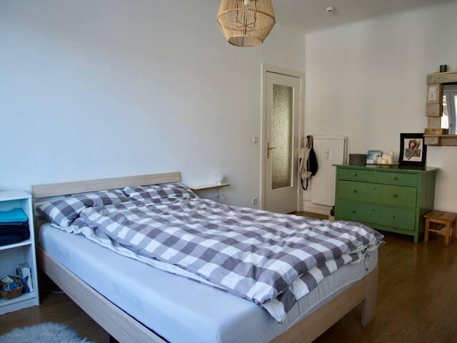 Schönes, großes Zimmer in heller zentraler Wohnung