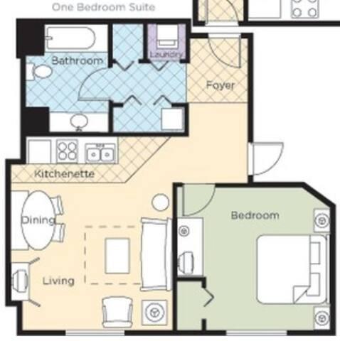 One Bedroom Deluxe Luxury Condo, Las Vegas (A536)