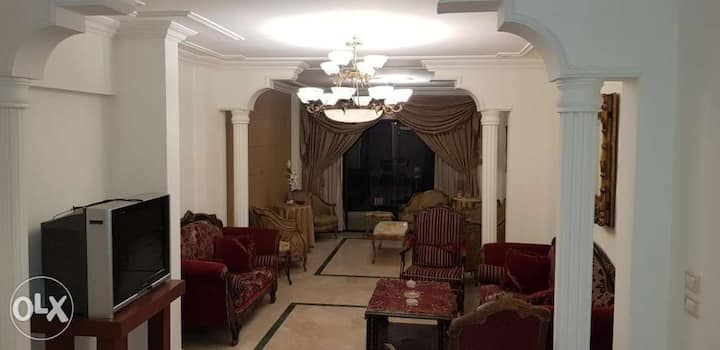 wonderful furnished appart. in city complex.