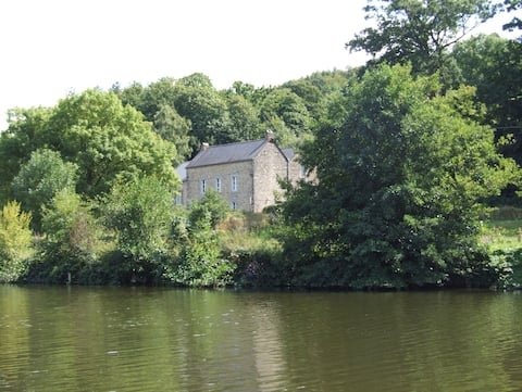 House beside the river Mayenne