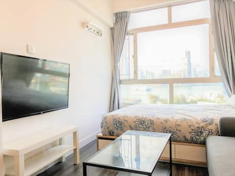 ❤️Seaview Studio Room, 1min to MTR Causeway Bay