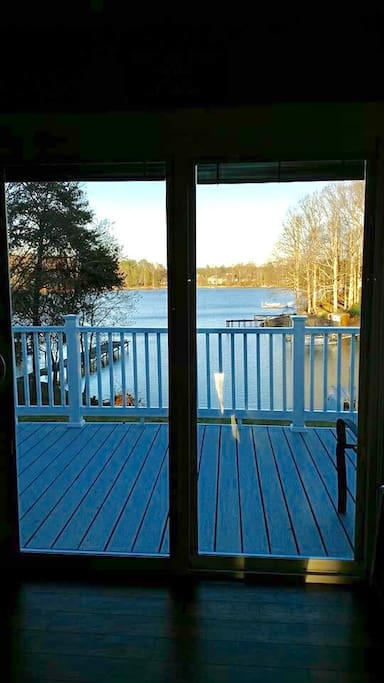 This the view of the lake from inside.