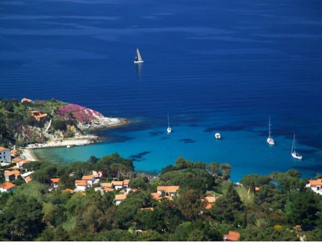 """Isola d'Elba Capo S.Andrea trilocale X 6p """"Edera"""" - Zanca - Byt"""