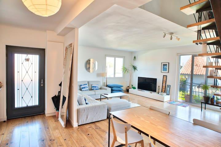 Entrée et living-room