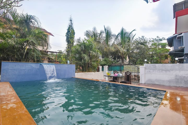 newly constructed FLAGSHIP VILLA (2BHK/AC/POOL/BBQ