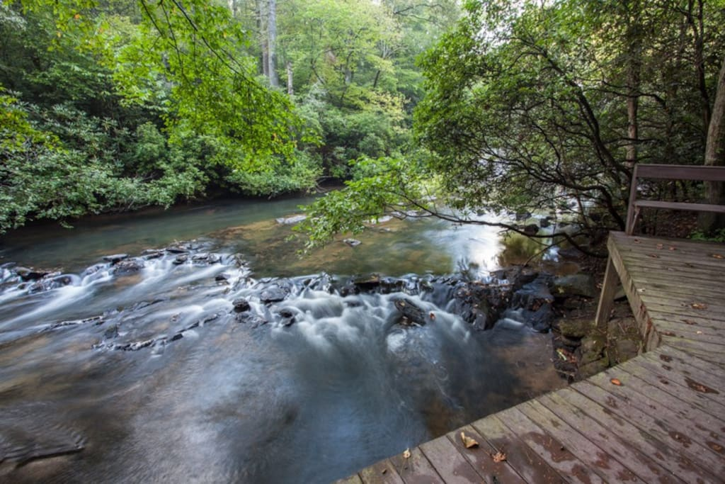 The spectacular Ellijay River from the deck
