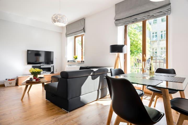 Apartament Comfort z balkonem blisko Wawelu